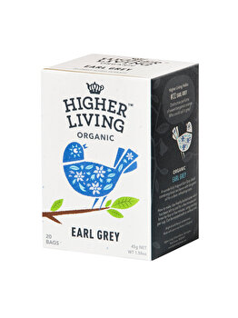 Ceai earl grey Higher Living bio 20 dz, 45 g