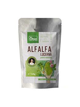 Alfalfa lucerna Obio pulbere, 125 g de la Obio