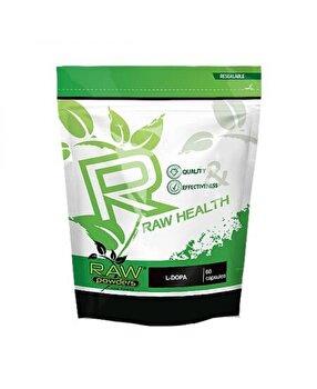 Raw Powders L-Dopa, Levodopa, 120mg 60 Capsule Raw Powders