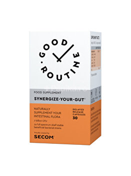Supliment alimentar Good Routine by Secom Synergize Your Gut 30 capsule de la Good Routine