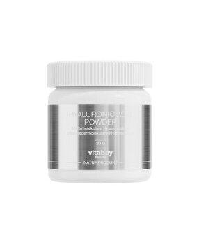Vitabay Acid Hialuronic 20 grame - cu acid hialuronic 100% pur de la Vitabay