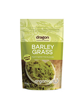 Pulbere de orz verde Dragon Superfoods raw bio, 150 g