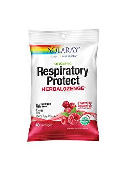 Supliment alimentar Zand Respiratory Protect HerbaLozenge Cranberry de la Solaray by Secom
