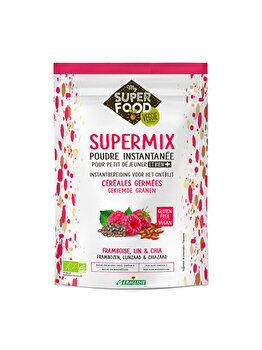 Supermix pentru mic dejun Germline fara gluten cu zmeura, in si chia bio, 350 g de la Germline