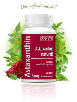 Supliment alimentar cu astaxantină naturală Zenyth Astaxanthin 6mg 30 capsule x 450mg de la Zenyth