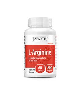 Supliment alimentar pentru menținerea tonusului vascular Zenyth L-Arginine 60 capsule x 800 mg de la Zenyth