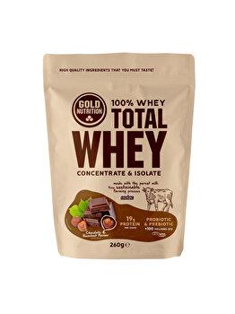 GoldNutrition Total Whey Ciocolata si Alune, 260 g de la GoldNutrition