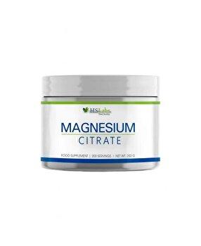 HS Labs Magneziu Citrat pulbere, 200 grame, 200 portii de la HS Labs