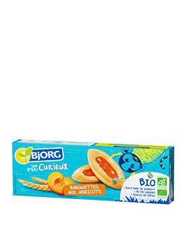 Barcute pentru copii cu gem de caise Bjorg Eco Petit Curieux 120 grame