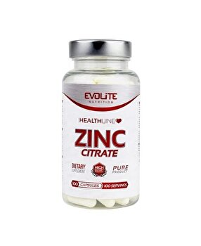 Evolite Zinc Citrate 50 mg 100 Capsule de la Evolite Nutrition