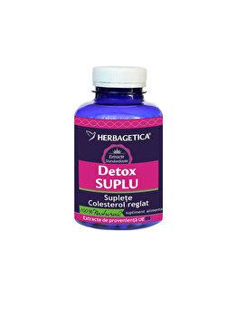 Supliment alimentar Herbagetica Detox suplu 120 capsule de la Herbagetica