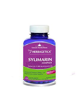 Supliment alimentar Herbagetica Silymarin 80/50 Detox forte 120 capsule de la Herbagetica