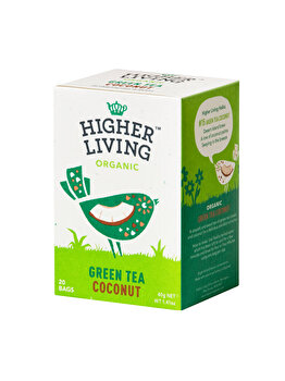 Ceai verde cocos Higher Living bio 20 dz, 40 g