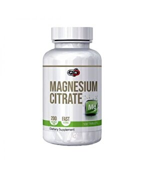Pure Nutrition USA Magneziu Citrat 200 tablete 200mg
