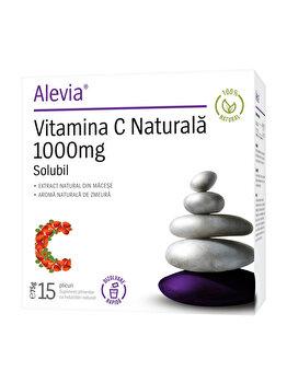 Vitamina C 1000 mg 100% Natural Alevia 15 plicuri de la Alevia
