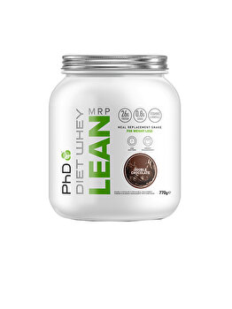 Shake pentru inlocuirea mesei PhD Diet Whey Lean Meal Replacement Double Chocolate, 770 grame PhD