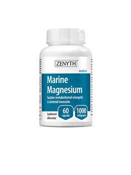 Supliment alimentar pentru sănătatea sistemului muscular și nervos Zenyth Marine Magnesium 60 capsule x 1000 mg de la Zenyth