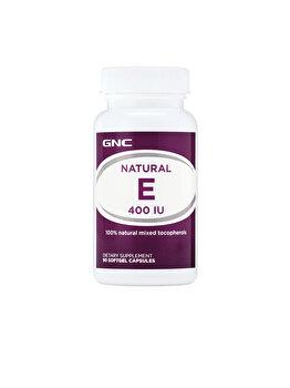 Supliment Alimentar GNC Vitamina E Naturala 400 UI, 90 cps de la GNC