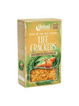 Lifecrackers cu varza murata Lifefood raw bio fara gluten, 90 g de la Lifefood