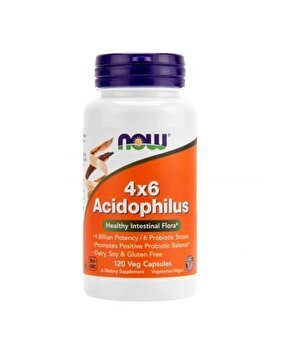 Now Foods Acidophilus 4x6 120 capsule de la Now Food