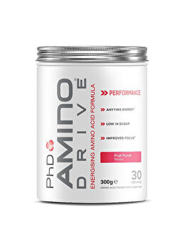 Mix de aminoacizi PhD Amino Drive Fruit Punch, 300 grame de la PhD