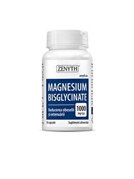 Supliment alimentar cu magneziu pentru calm mental și relaxare Zenyth Magnesium Bisglycinate 30 capsule de la Zenyth