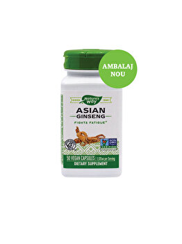 Supliment alimentar Nature's Way by Secom Asian Ginseng 560mg 50 capsule vegetale de la Nature's Way by Secom