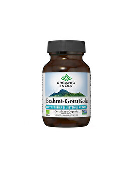 Organic India Brahmi-Gotu Kola Creier & Sistem Nervos 60 capsule ORGANIC INDIA