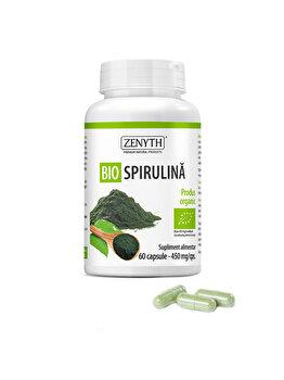 Supliment alimentar pentru detoxifiere și energizare Zenyth Bio Spirulina 60 capsule x 450 mg de la Zenyth