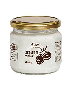 Ulei de cocos virgin Dragon Superfoods presat la rece bio, 300 ml de la Dragon Superfoods