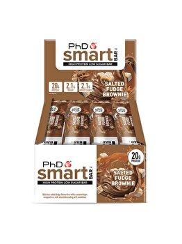 Baton proteic PhD Smart Bar Salted Fudge Brownie, 12x64 grame PhD