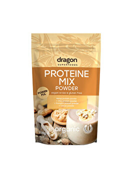 Mix proteic raw Dragon Superfoods canepa, chia, dovleac, cacao bio, 200 g Dragon Superfoods