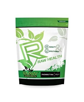 Raw Powders Phenibut FAA 25 grame, pentru somn odihnitor, relaxare, stres, nootropic Raw Powders
