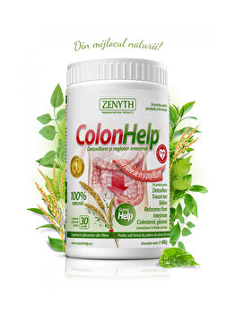 Supliment alimentar pentru detoxifiere și slăbire Zenyth ColonHelp flacon 480 grame de la Zenyth
