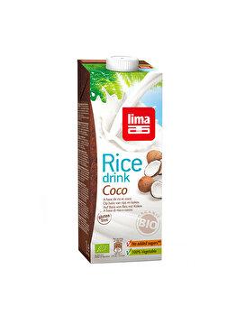 Bautura vegetala de orez Lima cu cocos bio, 1 L de la Lima