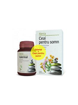 Valerinal 180 mg + Ceai de somn Alevia 20+20 plicuri de la Alevia