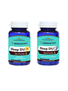 Supliment alimentar Herbagetica Sleep Duo AM/PM (30+30)