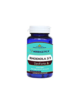 Supliment alimentar Herbagetica Rhodiola Zen Forte 30 capsule Herbagetica