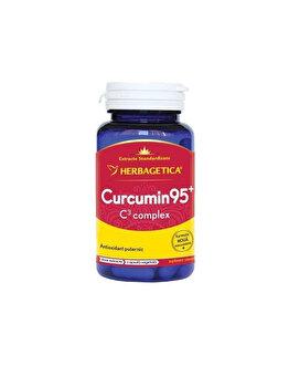 Supliment alimentar Herbagetica Curcumin + 95 C3 complex 30 capsule de la Herbagetica