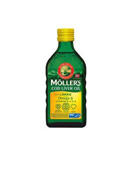 Ulei din ficat de cod Moller's Omega 3 cu aroma de lamaie, 250ml de la Moller's