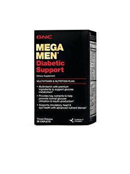 Supliment Alimentar GNC Mega Men® Diabetic Support, Multivitamine Pentru Barbati Pentru Suport Diabetic, 90 tb de la GNC