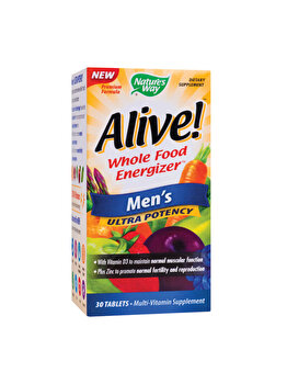 Supliment alimentar Nature's Way by Secom Alive! Men???s Ultra 30 tablete filmate de la Nature's Way by Secom