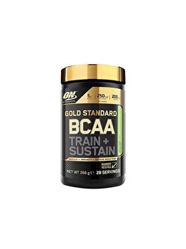 Aminoacizi Gold Standard Optimum Nutrition BCAA Train + Sustain Apple Pear 266g de la Optimum Nutrition