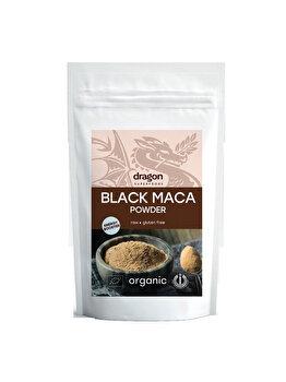 Maca neagra pulbere Dragon Superfoods raw bio, 100 g de la Dragon Superfoods