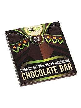 Ciocolata cu 80% cacao Lifefood raw bio fara gluten, 35 g de la Lifefood