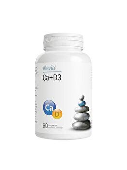 Complex Calciu si Vitamina D3 Alevia 60 Capsule Alevia