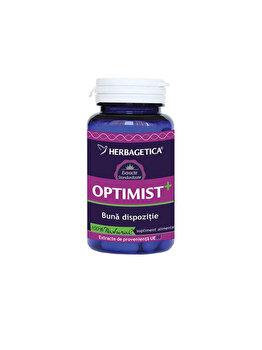 Supliment alimentar Herbagetica Optimist+ 60 capsule de la Herbagetica