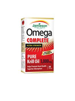 Supliment alimentar pentru sanatatea sistemului nervos si cardiovascular Jamieson Omega complet pure krill 1000 mg 30 capsule de la Jamieson