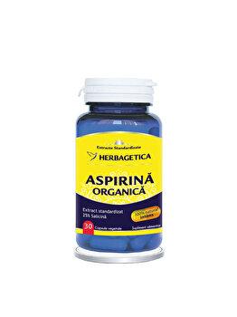 Supliment alimentar Herbagetica Aspirina Organica 30 capsule de la Herbagetica