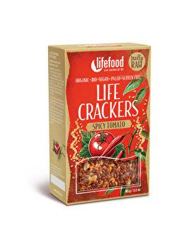Lifecrackers cu rosii si chilli Lifefood raw bio fara gluten, 90 g de la Lifefood